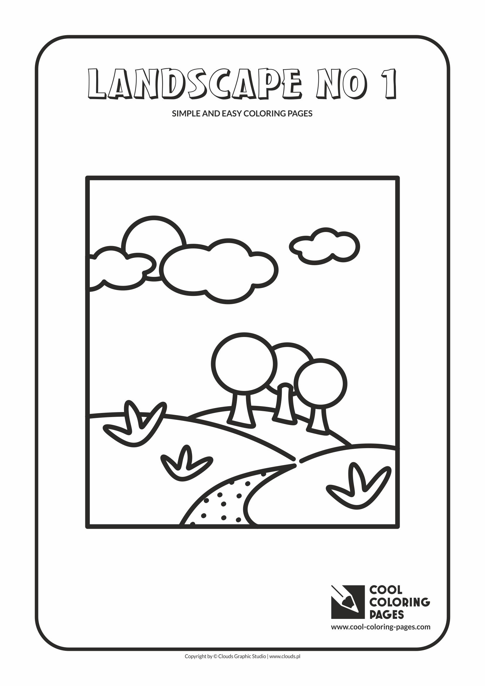 Cool Coloring Pages Simple and easy coloring pages - Cool ...