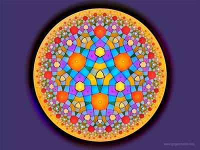 Geometric Art of Problem 151: Hyperbolic Kaleidoscope, iPad Apps