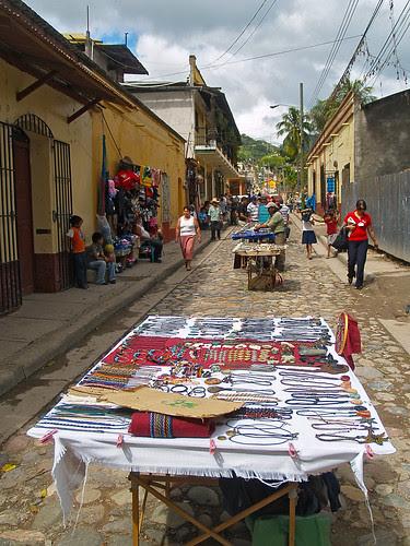 Artisan's street, Copan Ruinas by Adalberto.H.Vega