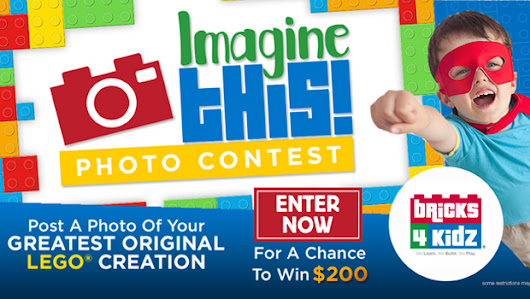 Snap a pic of your kid's best Lego creation and #win $200 if you get the most votes! #ImagineThis @bricks4kidzcorp