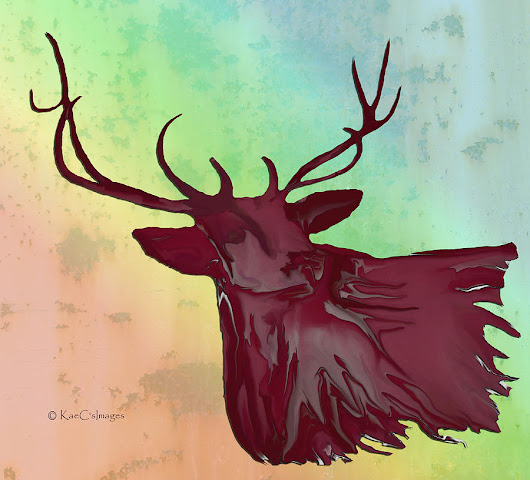 Digital Elk #1 by Kae Cheatham