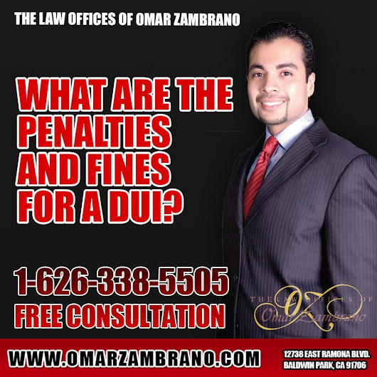The Law Offices of Omar Zambrano - Call for a Free Consultation — What are the penalties and fines for a DUI? 3 to 5...