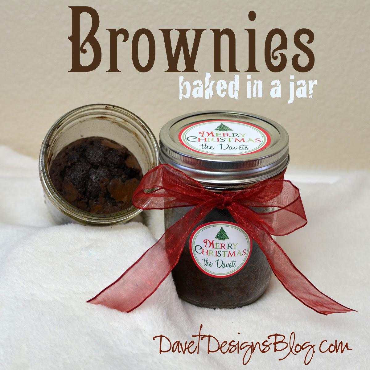 Brownies Baked in a Jar