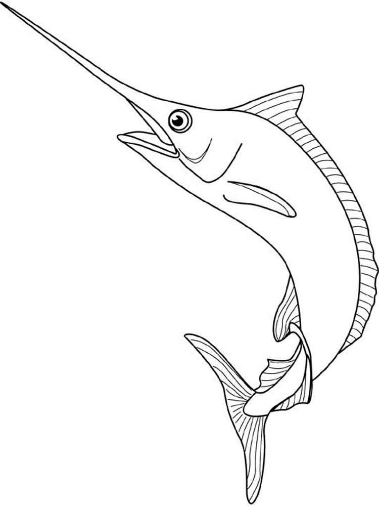 Marlin coloring pages. Download and print Marlin coloring ...