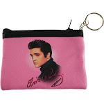 "Elvis Presley Pink Foil Photo Ladies Coin Purse [Pink - 4"" x 3.25""]"