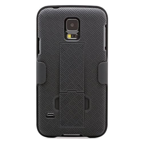 Aduro Galaxy S5 Combo Super Slim Shell Holster Case, Black