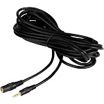 Movo MC20 20-foot (6m) TRS Female 3.5mm to TRS Male 3.5mm Extension Cable for Camera/Video Microphones (fits Rode, Takstar, Audio-Technica, Canon,