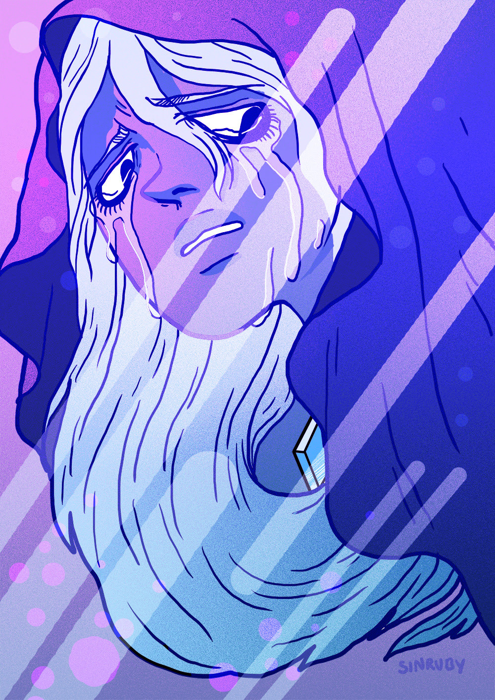 Blue diamond is so beautiful, so I took like 5 minutes to doodle this during my lunch break