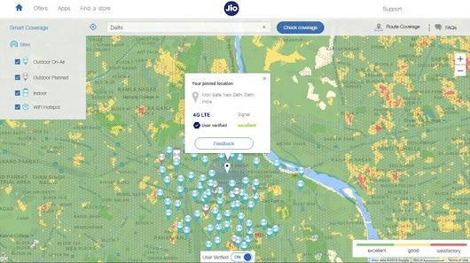 Reliance Jio Smart Coverage Map Check Jio G Network Coverage In - 4g network map