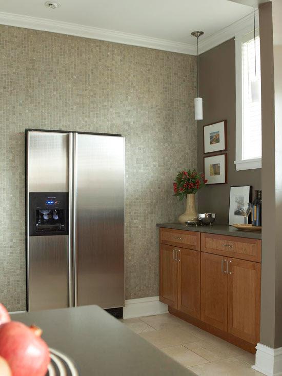 Küchenschrank Für Kühlschrank   Große Landhaus Küche ...