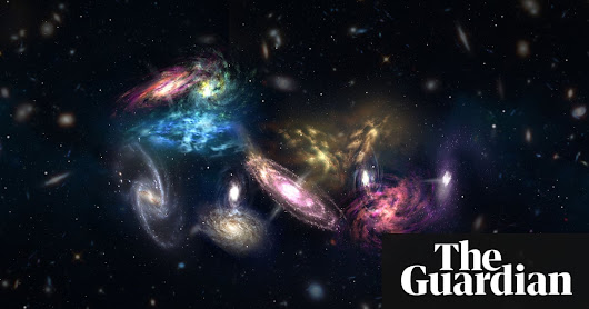 The largest thing in the universe? Cosmic collision 12bn years ago created mega-galaxy | Science | The Guardian