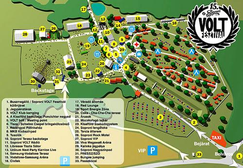 volt térkép Volt Fesztivál Térkép | Térkép