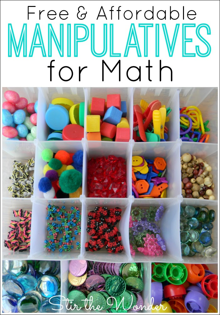 Free & Affordable Math Manipulatives for Kids to use with hands-on learning activities!