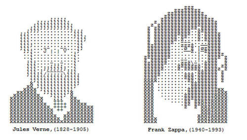 Typing Can Make Portraits(Symbols, Letters and Numbers)