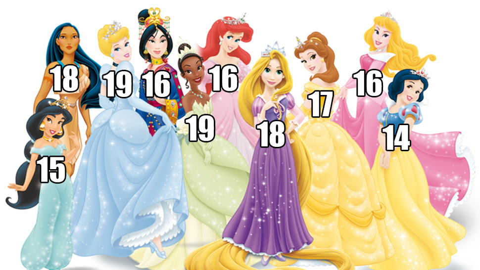 Actual list of Disney Princess ages will... : 【恐怖】大人のための「悪 ...