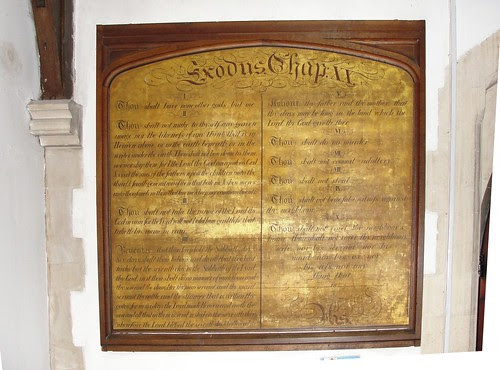 The Ten Commandments in St Mary's Stanwell