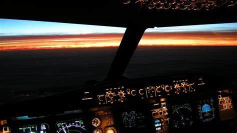 airbus cockpit beleuchtet sunset wallpaper allwallpaper