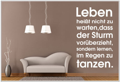 Wandtattoo Wandtatto Wandspruch Spruch Zitat Leben Heisst Nicht Zu Warten Wzt66
