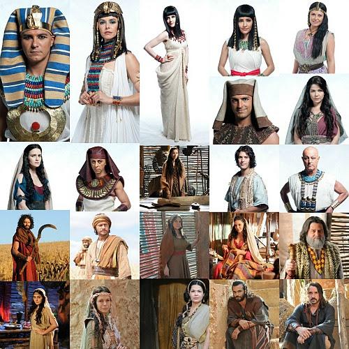 Algumas das roupas usadas em José do Egito