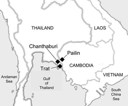 Chanthaburi Pailin Mapa