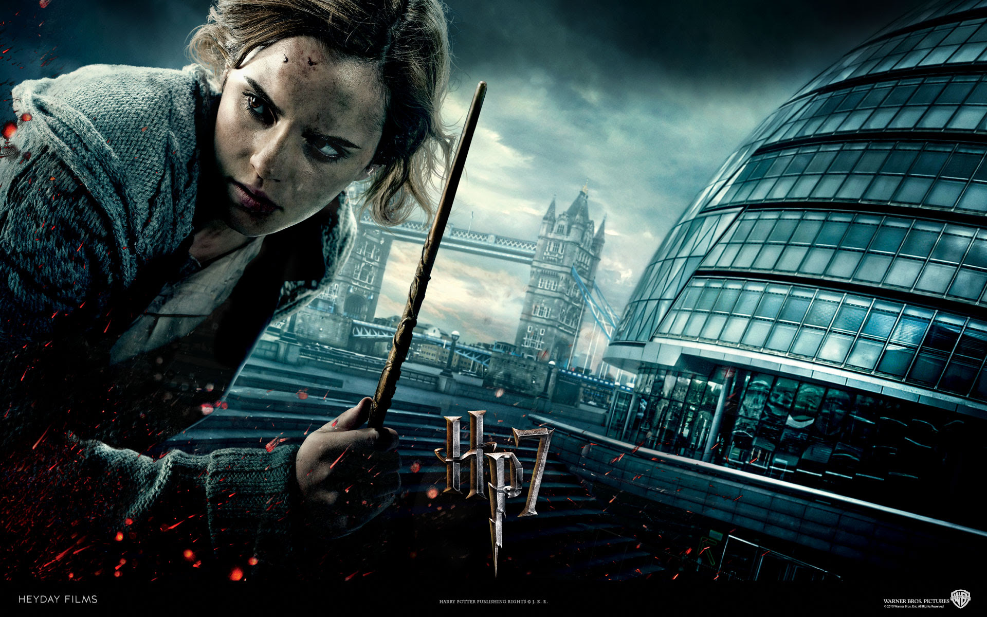 Hermione From Harry Potter And The Deathly Hallows Desktop Wallpaper