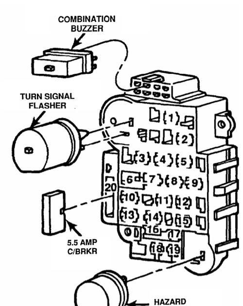 1996 Lincoln Continental Fuse Box Diagram
