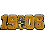 """Alpha Phi Alpha Crest 1906 Chenille Sew-On Patch [Gold - 11.75""""W]"""