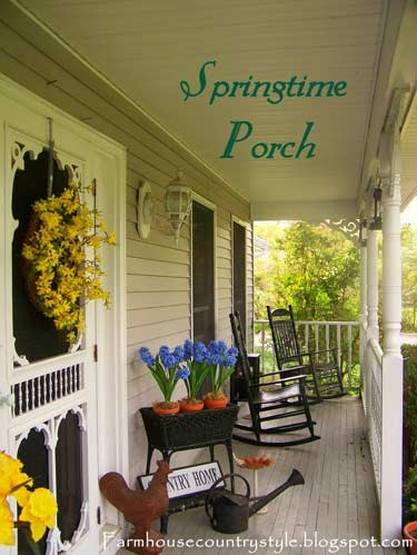 Country porch decorating ideas architecture design for Country style porch