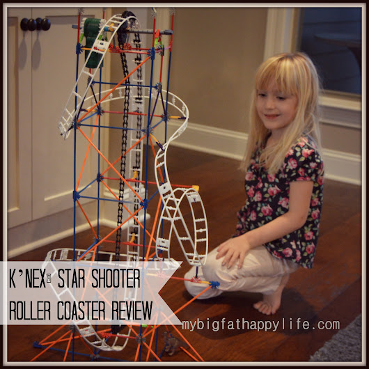 K'NEX® Star Shooter Roller Coaster #ChosenByKids Review - My Big Fat Happy Life