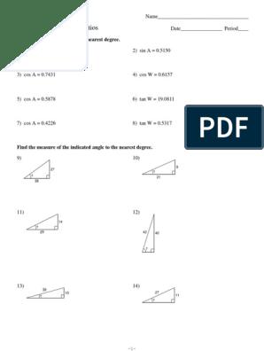 Inverse Trigonometric Ratios Worksheet Kuta Software