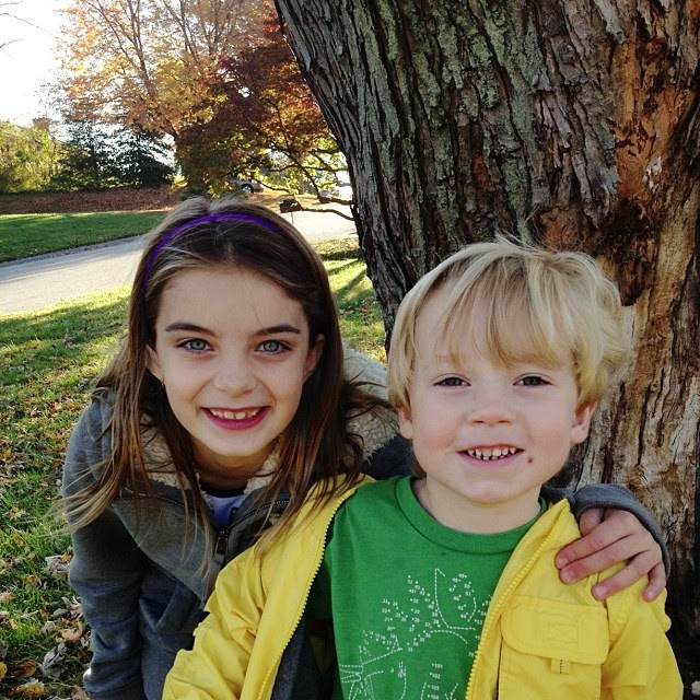 Will with his friend Daphne this morning at the bus stop...#neighborhood