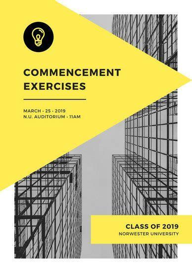Customize 88  Graduation Program templates online   Canva
