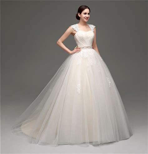 Puffy Ball Gown Keyhole Open Back Champagne Satin Lace
