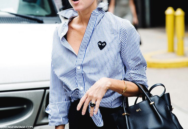 Le Fashion Blog -- Marina Larroude in a Play By Comme Des Garcons striped shirt and Nina Ricci Marche Tote during NYFW -- Street Style Via Collage Vintage photo Le-Fashion-Blog-Marina-Larroude-Play-By-Comme-Des-Garcons-Striped-Shirt-Nina-Ricci-Marche-Tote-NYFW-Street-Style-Via-Collage-Vintage.jpg