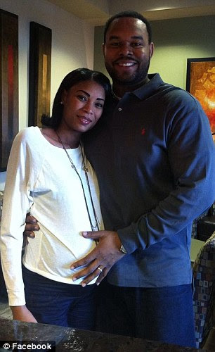Tragic: Erica Morales, 36, (pictured left and right with husband Carlos) has died after giving birth to quadruplets
