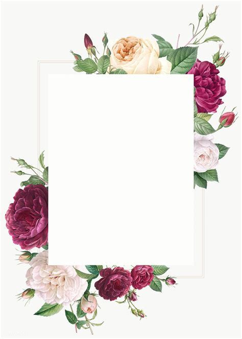 Floral design wedding invitation mockup   Royalty free