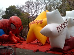 Spiderman rolls the Macy's dice