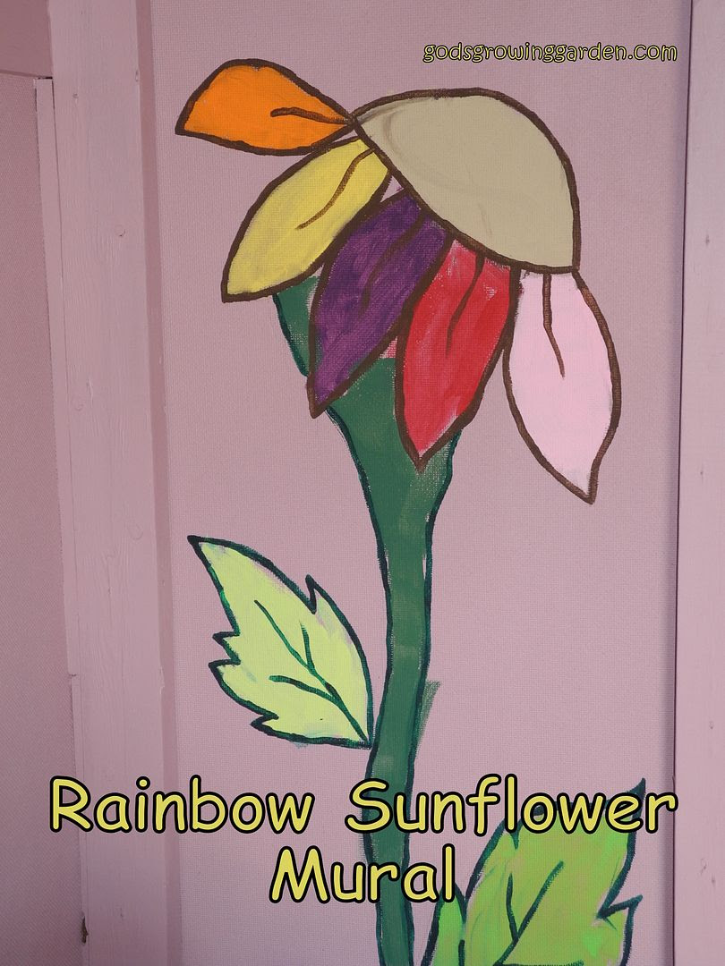 Rainbow Sunflower Mural by Angie Ouellette-Tower for godsgrowinggarden.com photo DSCN2496-Copy_zps7d47b1a0.jpg
