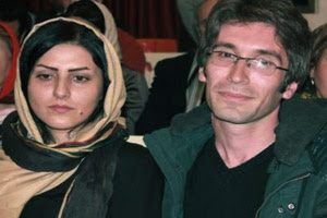 Husband and wife: Arash Sadeqi and Golrokh Ebrahimi