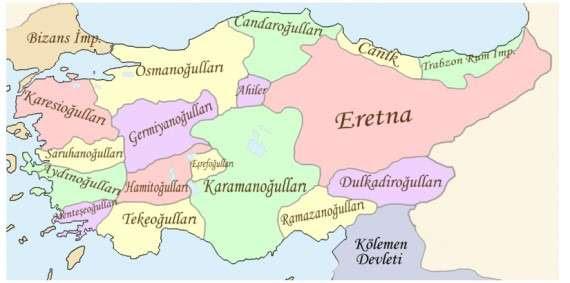 Χάρτης που δείχνει την επέκταση των Μογγόλων, γύρω στα 1325 μ.Χ.