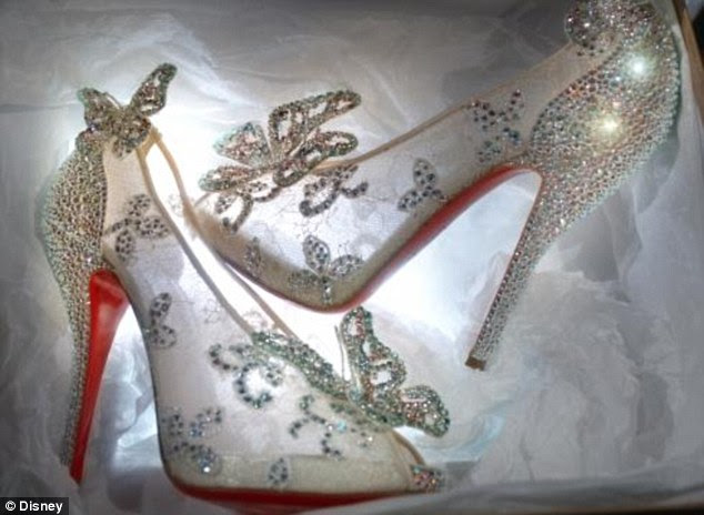 Christian Louboutin debuted his version of the Cinderella slipper with the photo caption, 'Bibbidi-Bobbidi-Boo, Cinderella has a red sole shoe'
