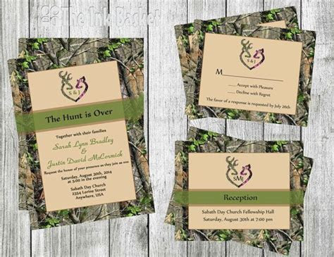 The Hunt is Over Wedding Invitation w/RSVP & by