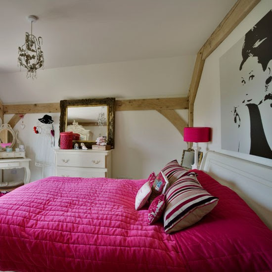 Girl's bedroom | Rustic new-build house | Country Homes & Interiors house tour | PHOTO GALLERY | housetohome