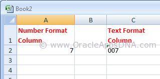 String vs Number in Excel
