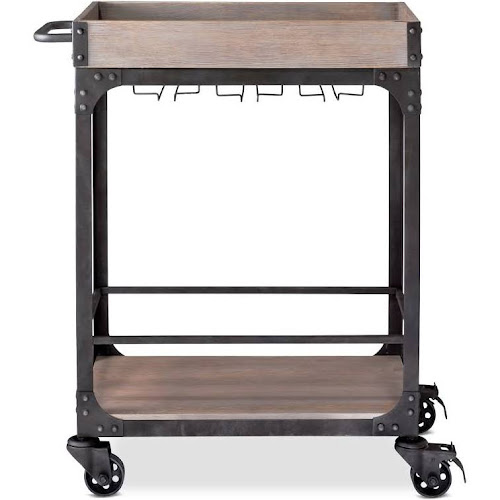 Franklin Bar Cart And Wine Rack Weathered Gray Threshold