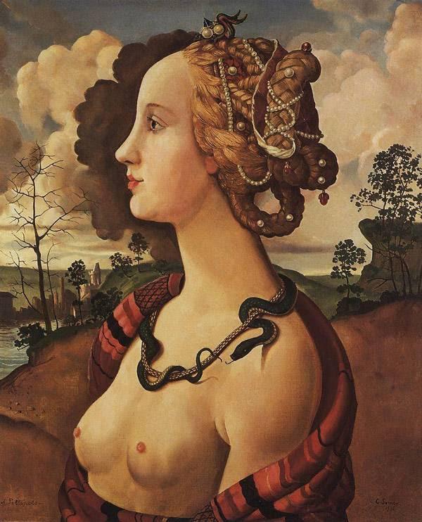Копия портрета Симонетты Веспуччи работы Пьеро ди Козимо (1642-1521). 1930-е