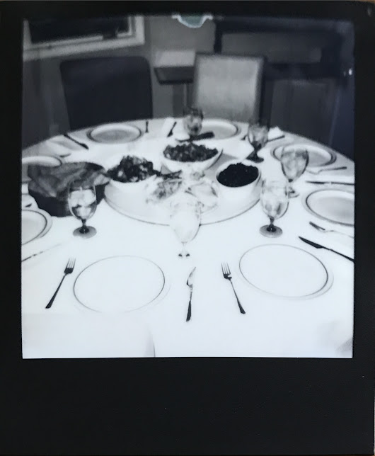 Expired black and white instant film and Thanksgiving