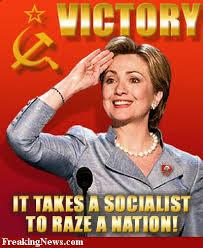 hillary se necesita un socialista para arrasar una nación