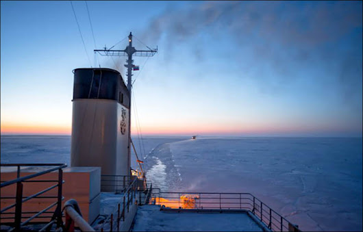 Blow to Northern Sea Route as voyages of two icebreakers are... broken by ice