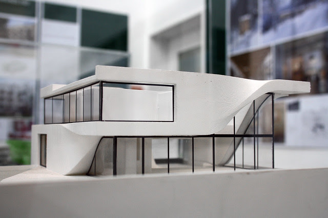 Model of Haus am Weinberg, Stuttgart, by UNStudio Ben van Berkel, Caroline Bos